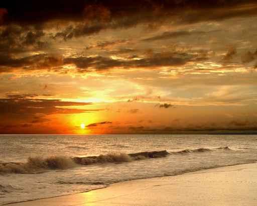 Cuadros playas atardecer en la playa - Cuadros de atardeceres ...