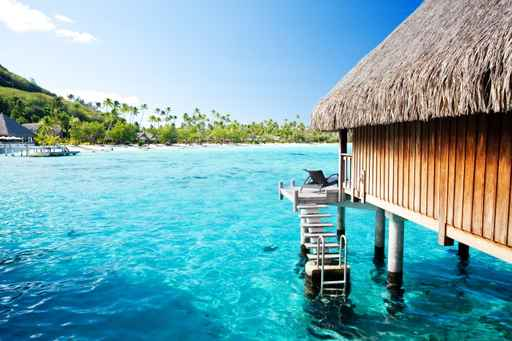 Estores playas caba a sobre el agua for Cabanas en el agua bali