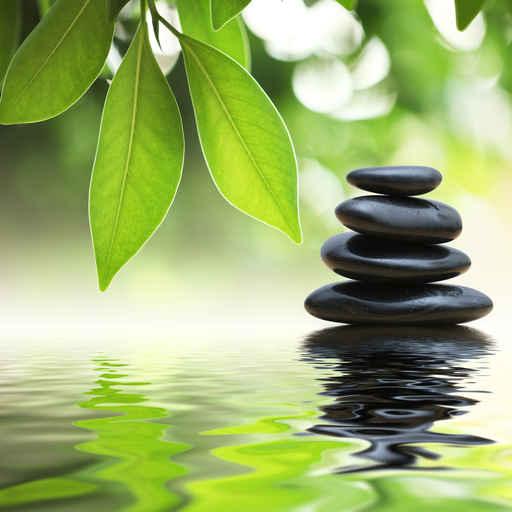 Cuadros zen piedras sobre el agua Fotos piedras zen