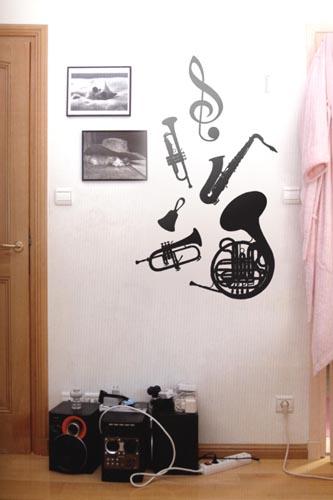 Vinilos loft instrumentos musicales for Vinilos decorativos instrumentos musicales