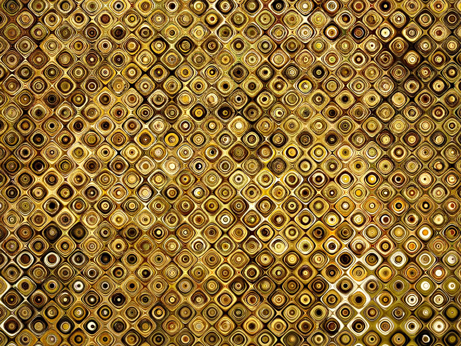 El desastre de María: Texturas doradas y plateadas