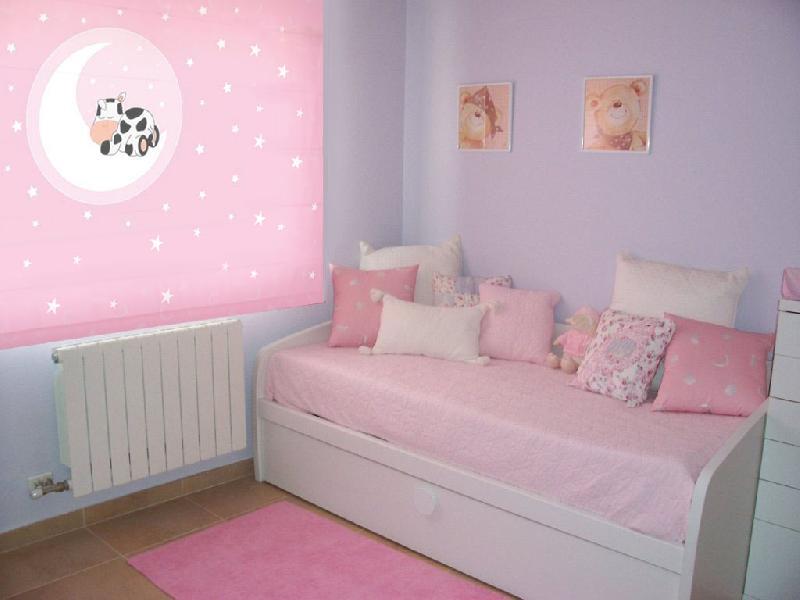 Estores infantiles juveniles luna y vaca - Decoracion paredes habitacion nina ...