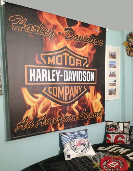 Estores fuego y llamas harley davidson - Estores vigo ...